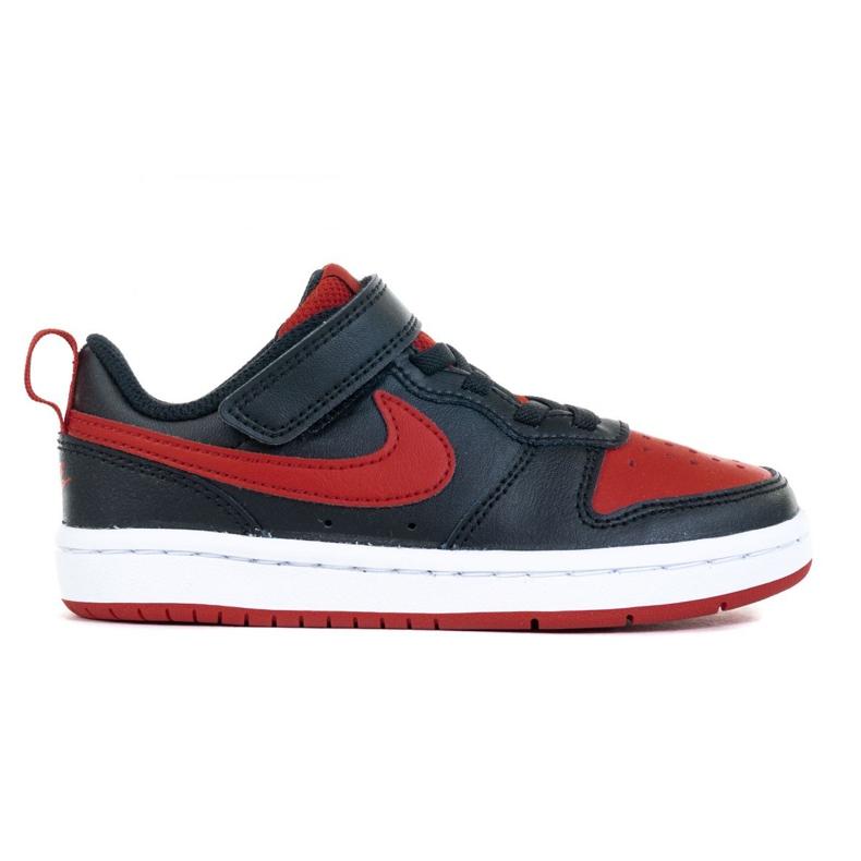 Buty Nike Court Borough Low 2 (PSV) Jr BQ5451-007 czarne niebieskie