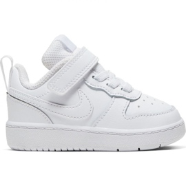Buty Nike Court Borough Low 2 (TDV) Jr BQ5453-100 białe niebieskie