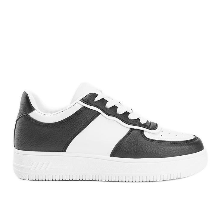 Biało czarne sneakersy Noyale białe