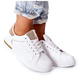 Sportowe Buty Sneakersy Na Platformie Biało-Beżowe Lola beżowy białe