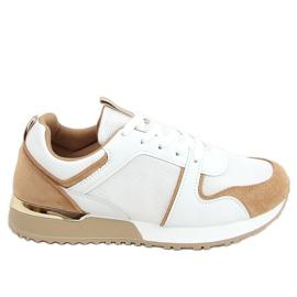Buty sportowe wielokolorowe 5315 Khaki białe