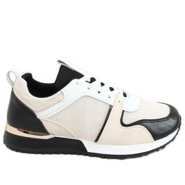 Buty sportowe wielokolorowe 5315 BLACK/BEIGE beżowy czarne