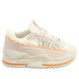Buty sportowe beżowe LA181P Beige beżowy