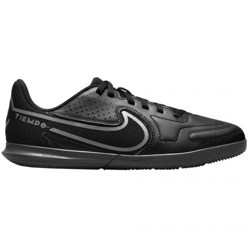 Buty piłkarskie Nike Tiempo Legend 9 Club Jr Ic DA1332 004 czarne czarne