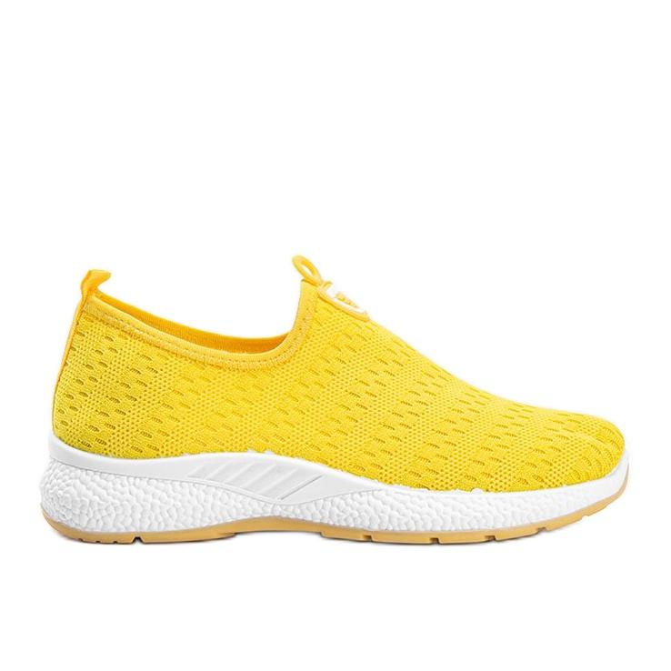 Żółte sportowe obuwie slip-on Marathon