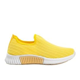 Żółte sportowe obuwie slip-on Roxy