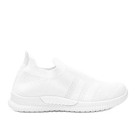 Białe sportowe obuwie slip-on Infinity