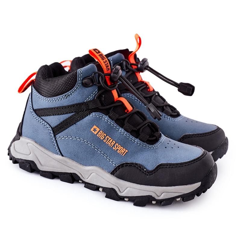 Dziecięce Buty Trekkingowe Big Star GG374048 Granatowe niebieskie