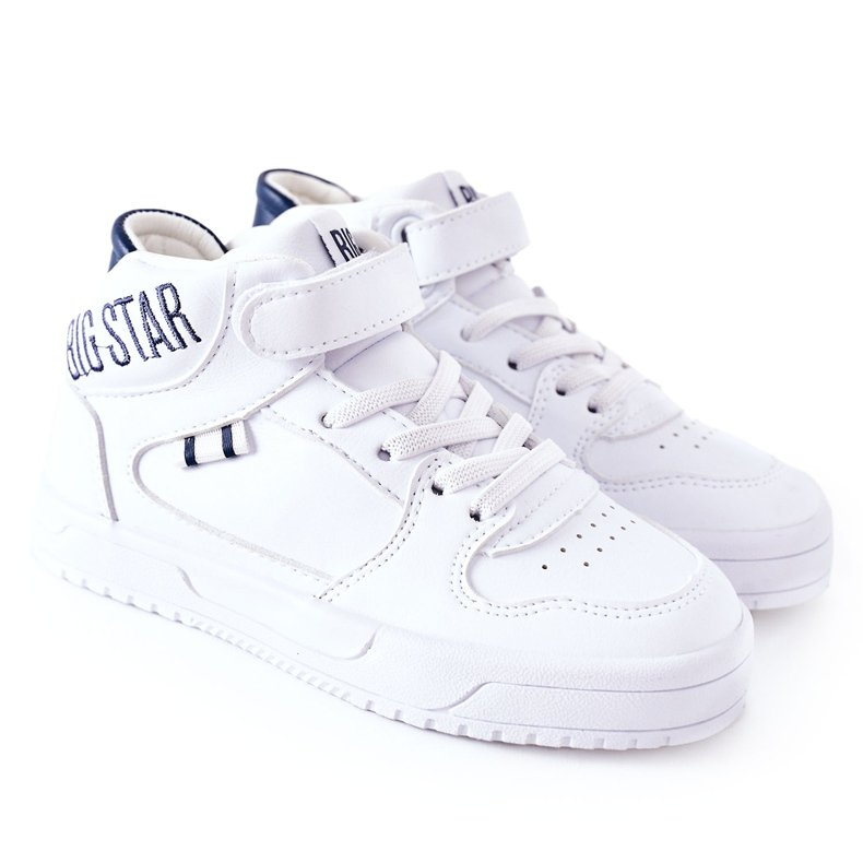 Dziecięce Sportowe Buty Big Star II374034 Biało-Granatowe białe