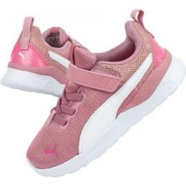 Buty Puma Anzarun Lite Metallic Ac Jr 373177 01 niebieskie różowe