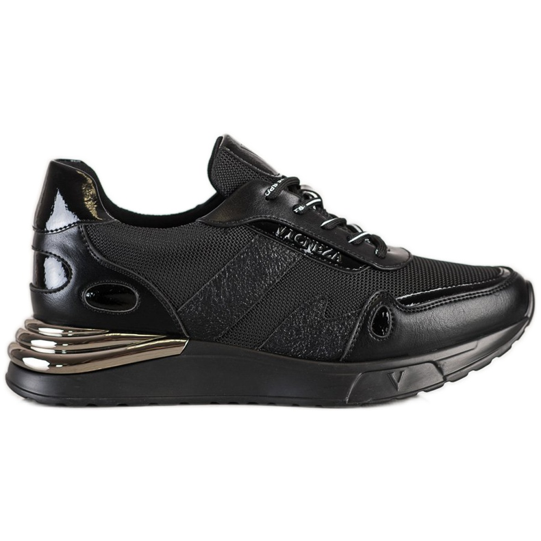 Sneakersy Z Brokatem VINCEZA czarne