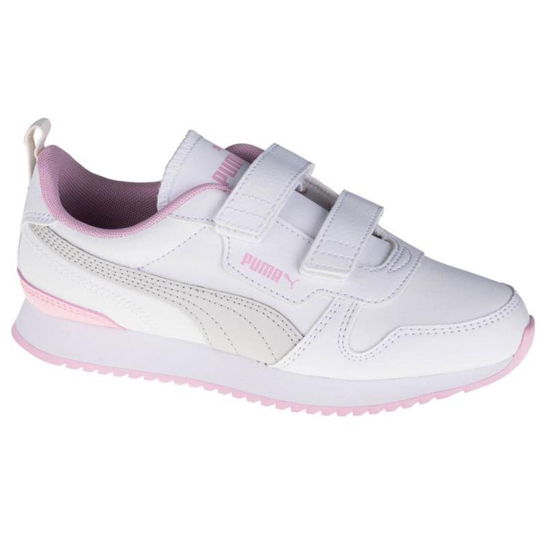 Buty Puma R78 Sl V Ps Jr 374429-04 białe różowe