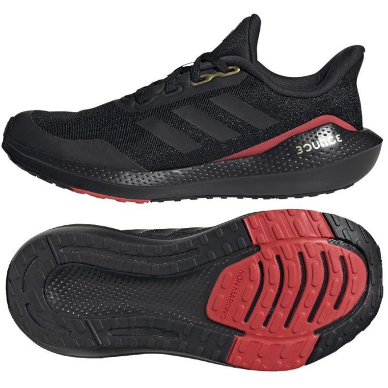 Buty do biegania adidas EQ21 Run Jr GV9937 czarne