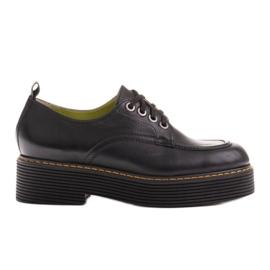 Marco Shoes Mokasyny Chiara ze skóry przecieranej czarne