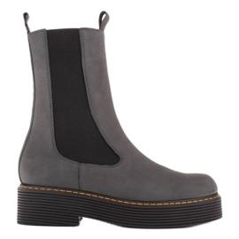 Marco Shoes Glany Greta z elastyczną gumą szare