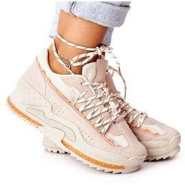 PS1 Damskie Sportowe Buty Sneakersy Beżowe Aland beżowy