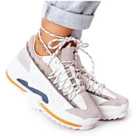 PS1 Damskie Sportowe Buty Sneakersy Białe Aland