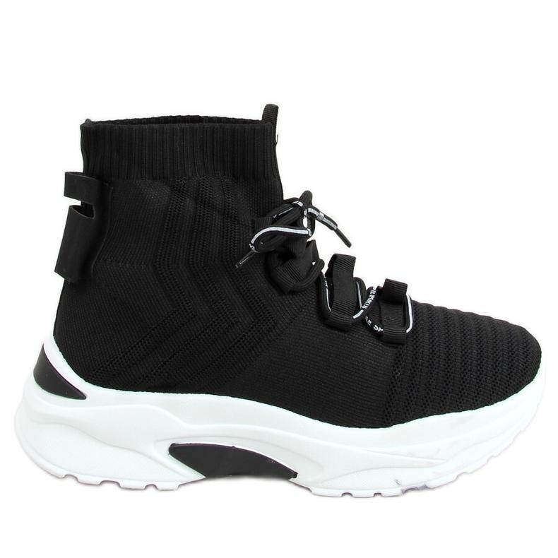 Buty sportowe skarpetkowe czarne 2032 Black