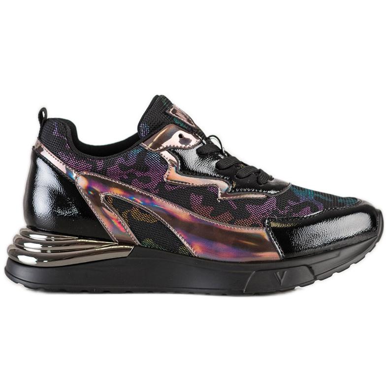Sneakersy Z Efektem Holo VINCEZA czarne