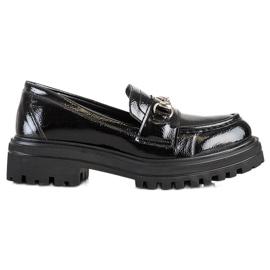 SHELOVET Mokasyny Na Platformie Fashion czarne