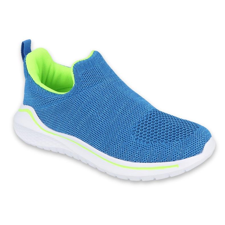 Befado obuwie dziecięce  516Y079 niebieskie zielone