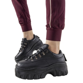 Czarne sneakersy sportowe damskie Keygo