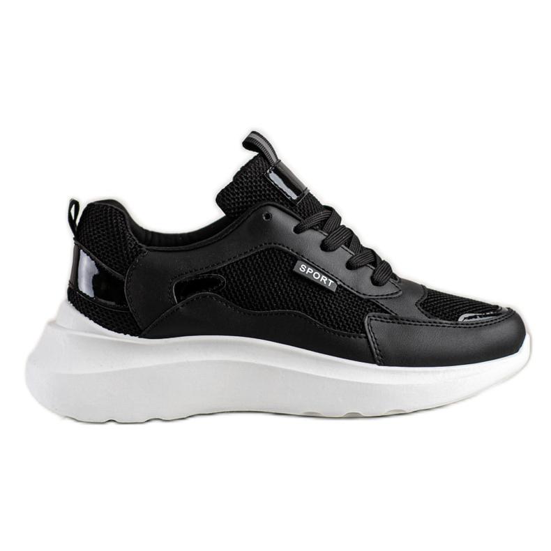 SHELOVET Buty Sportowe Na Platformie czarne