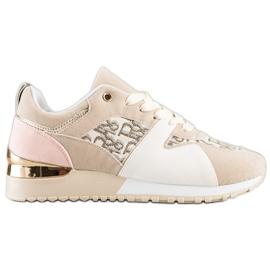 SHELOVET Stylowe Sneakersy beżowy