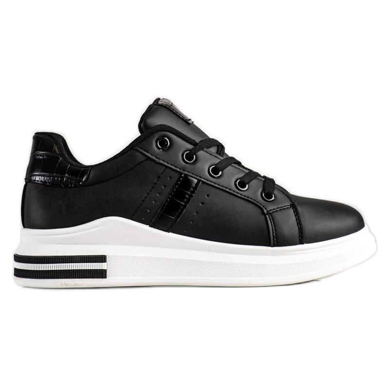 SHELOVET Casualowe Czarne Sneakersy