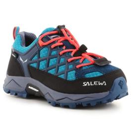 Buty trekkingowe Salewa Wildfire Wp Jr 64009-8641 czarne niebieskie
