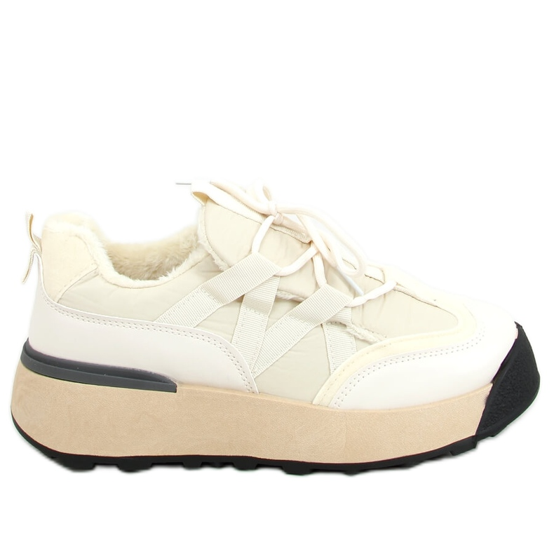 Buty sportowe ocieplane beżowe BL252P Beige beżowy