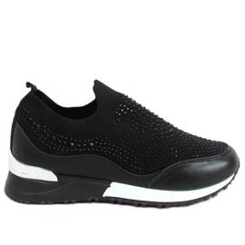 Buty sportowe skarpetkowe czarne AD-359 Black