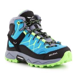 Buty trekkingowe Salewa Alp Trainer Mid Gtx Jr 64010-8375 niebieskie