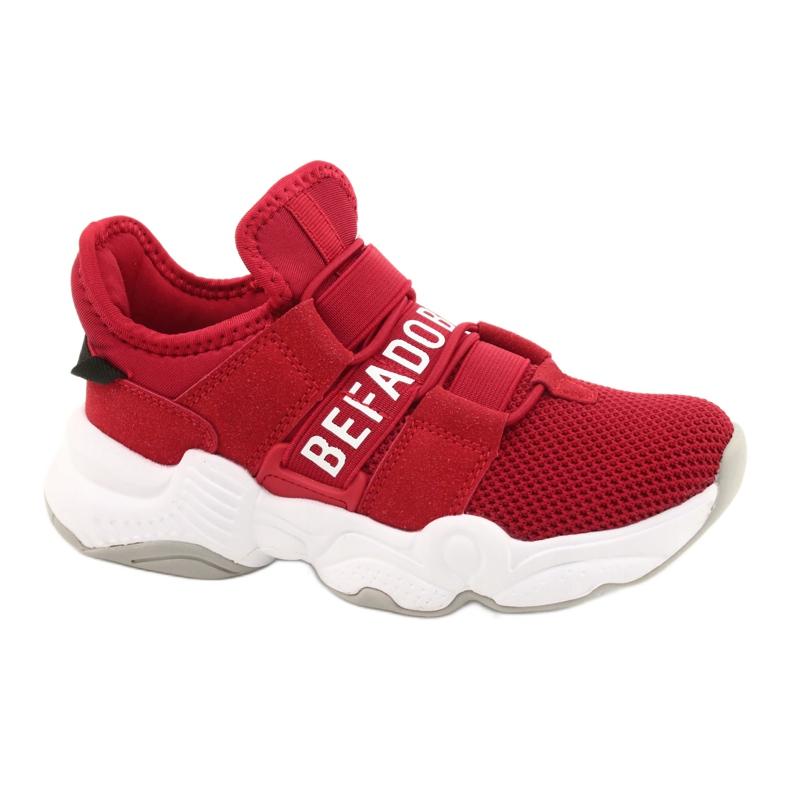 Befado obuwie dziecięce  516Y064 białe czerwone
