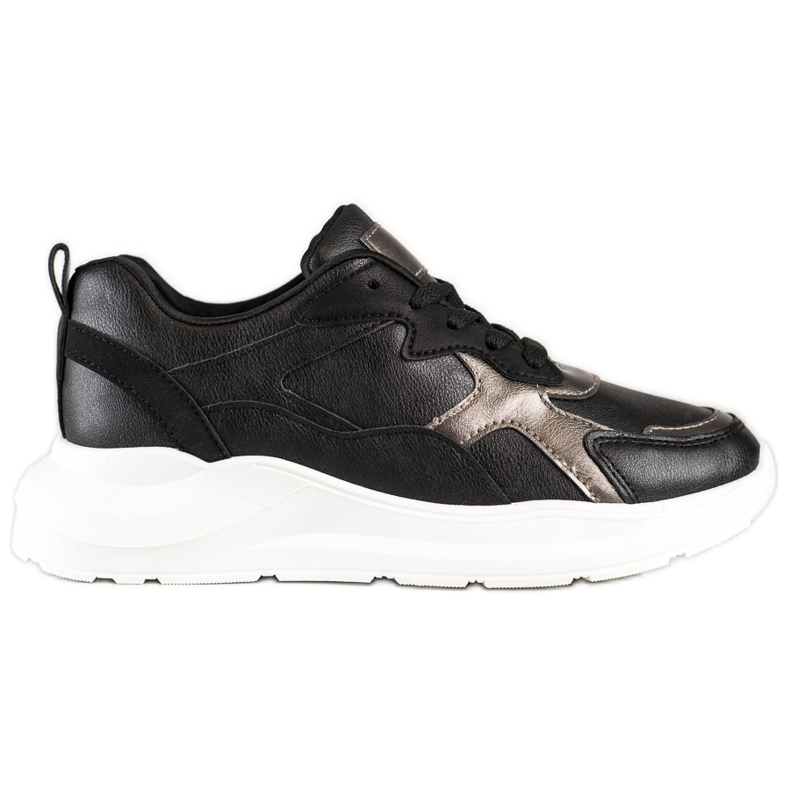 SHELOVET Sneakersy Na Platformie czarne