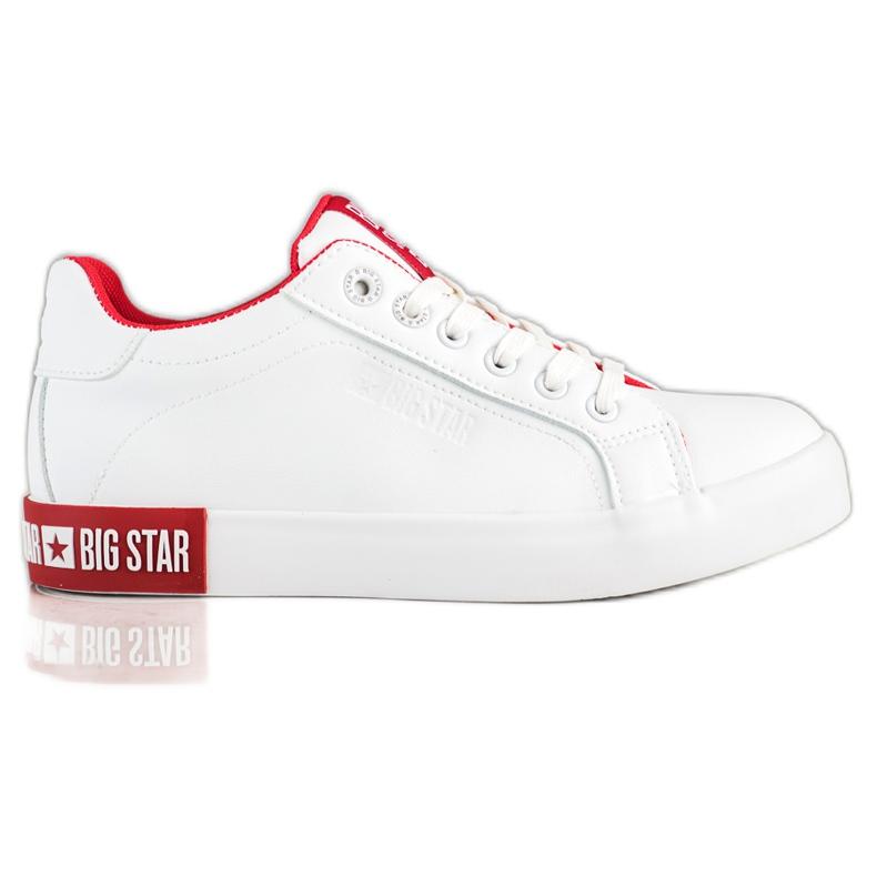 Trampki Damskie Big Star II274032 białe