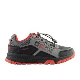 Big Star Szare dziecięce sneakersy sportowe Grenier czarne