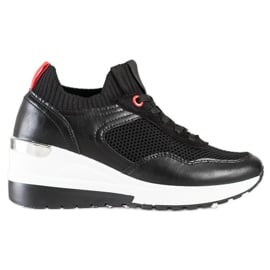 SHELOVET Wsuwane Sneakersy Z Siateczką czarne