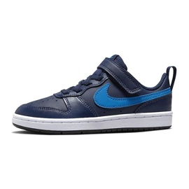 Buty Nike Court Borough Low 2 (PSV) Jr BQ5451-403 granatowe różowe