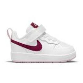 Buty Nike Court Borough Low 2 (TDV) Jr BQ5453-120 białe różowe