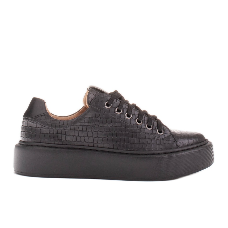 Marco Shoes Lekkie sneakersy ze skóry typu nappa czarne