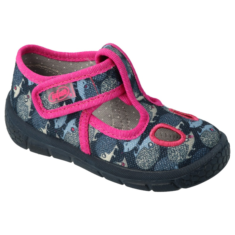 Befado  obuwie dziecięce  533P017 granatowe niebieskie różowe
