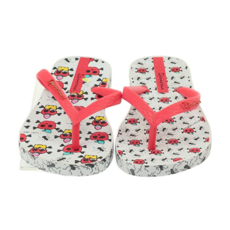 Klapki buty dziecięce japonki do wody Ipanema 81264 białe czerwone