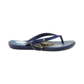 Granatowe klapki buty dziecięce japonki do wody Rider 1307