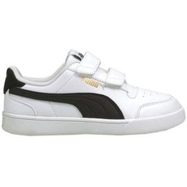 Buty Puma Shuffle V Ps Jr 375689 02 białe czarne