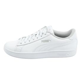 Buty Puma Smash V2 Jr 365170 02 białe niebieskie