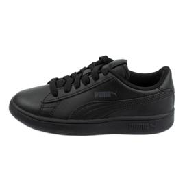 Buty Puma Smash V2 Jr 365324 01 czarne niebieskie