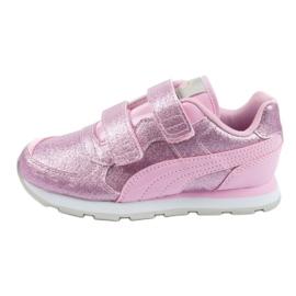 Buty Puma Vista Glitz Jr 369720 11 różowe