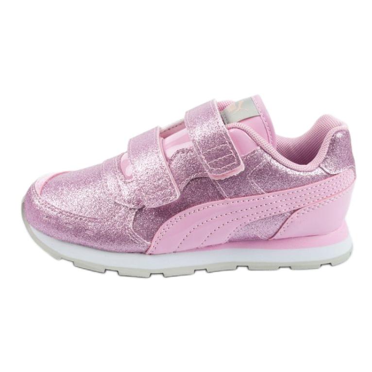 Buty Puma Vista Glitz Jr 369721 11 różowe