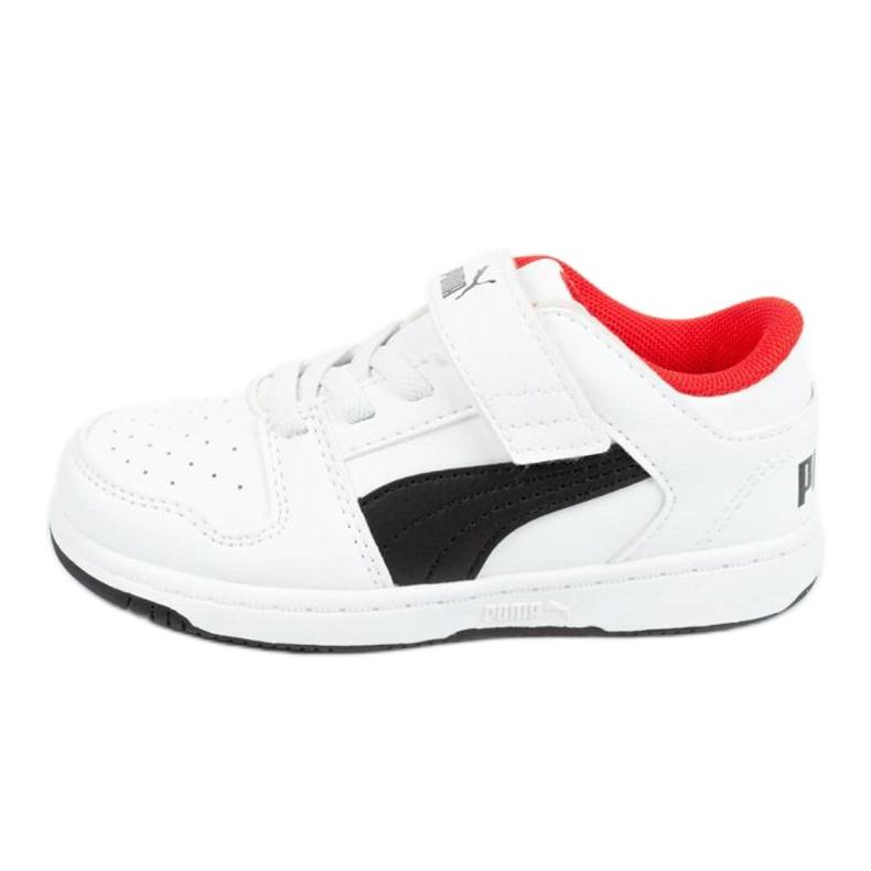 Buty Puma Rebound Jr 370493 01 białe czarne